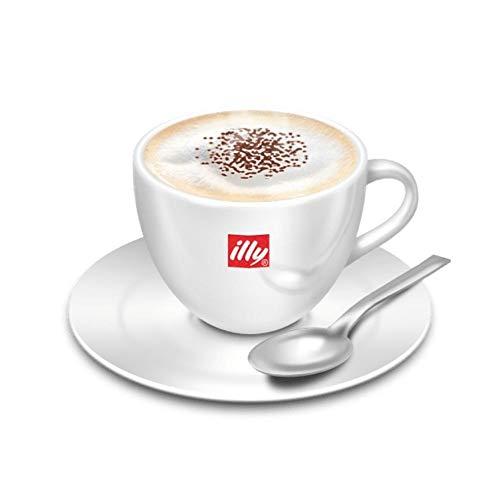 illy Set 2 Tazze da Cappuccino o Latte Macchiato con piattini