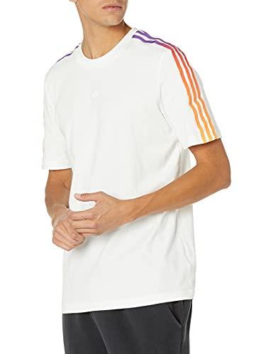 adidas Originals Camiseta Sport Foundation de 3 rayas para hombre - blanco - Medium