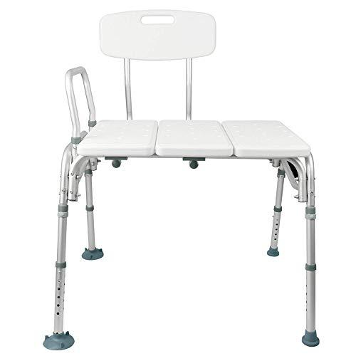 Banco de transferencia de bañera - Banco de transferencia de baño y ducha - Silla de ducha ajustable - Ayuda de accesibilidad de baño para ancianos, discapacitados ✅