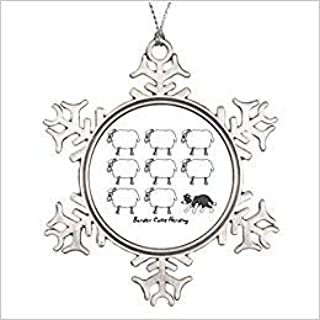 Cheyan Riveral Border Collie Herding Sheep Unusual Christmas Snowflake Ornament Gift for Women Men Husband Wife Friends Gils Boys
