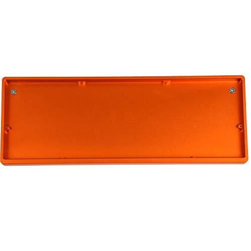 Set für mechanische Tastatur, 75 Tasten, eloxiertes Aluminium, Hot-Swap-fähig, Typ C, ortholineares Layout Orange case Black plate