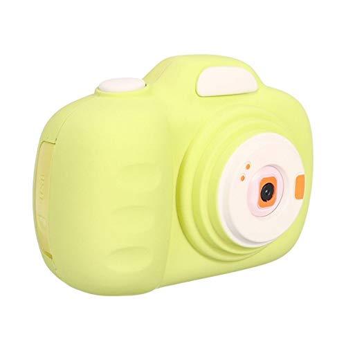 Kindercamera, PZNSPY dubbele lens Cartoon Mini digitale camera HD schieten Autofocus met 16g geheugenkaartlezer Geel