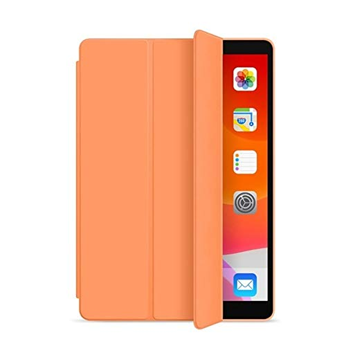 NVFED for iPad 5th 6th 9.7 in 2017 2018 Case 7th 10.2' 2019 Mini 5 Air 3 10.5 inch New Pro 11 Soft Silicone PU Smart Sleep Cover Funda (Color : Orange, Size : Air 2 A1566 A1567)