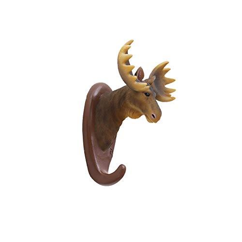 Creatieve dierlijke decoratieve muurhaak - muur opknoping veranda opslag sleutel houder jas haak Moose