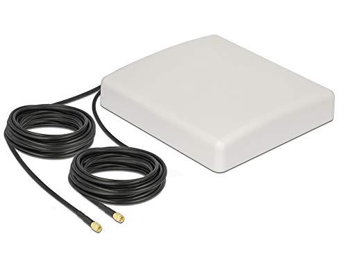 Delock LTE Antenne 8 dBi Outdoor Antenne MIMO Direktional Richtantenne mit 2X SMA Kabel 10m, 89891