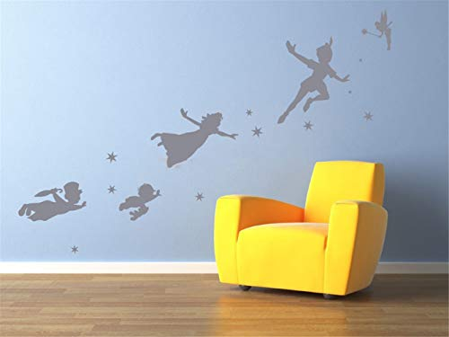 Pegatinas De Pared Linda Figura De Dibujos Animados Peter Pan Tinkerbell Stickers Kids Nursery
