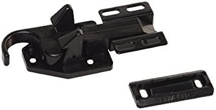 RV Designer E291, Bullet Screen Door Latch, Entry Door Hardware , Black