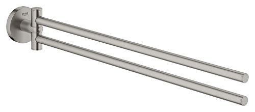 Grohe Essentials Handtuchhalter 2-Armig, supersteel, 1 Stück, 40371DC1