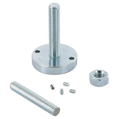 Fixations haute et basse pour colonne vibo - Diamètre : 50 mm - Matériau : Acier - Décor : Chromé - Pour tube de diamètre : 50 mm - VIBO