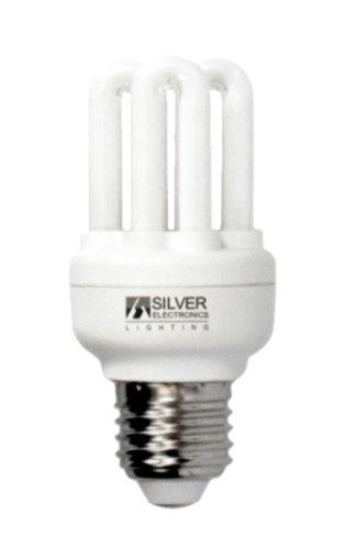 Silver Electronics 561514 – Ampoule basse consommation Mini 6U 15 W E-14 Lumière froide