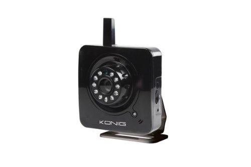König SEC-IPCAM100 Cámara de seguridad IP Interior Cubo 640 x 480 Pixeles - Cámara de vigilancia (Cámara de seguridad IP, Interior, Alámbrico, Cubo, Negro, 1 lx)