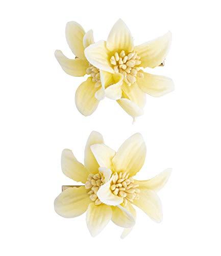SIX Horquillas para el pelo con flor de lirio en juego de 2 (accesorios para el pelo para mujeres) – Pinzas para el pelo – Horquillas – Horquillas – Pasador – Amarillo (488 – 701)