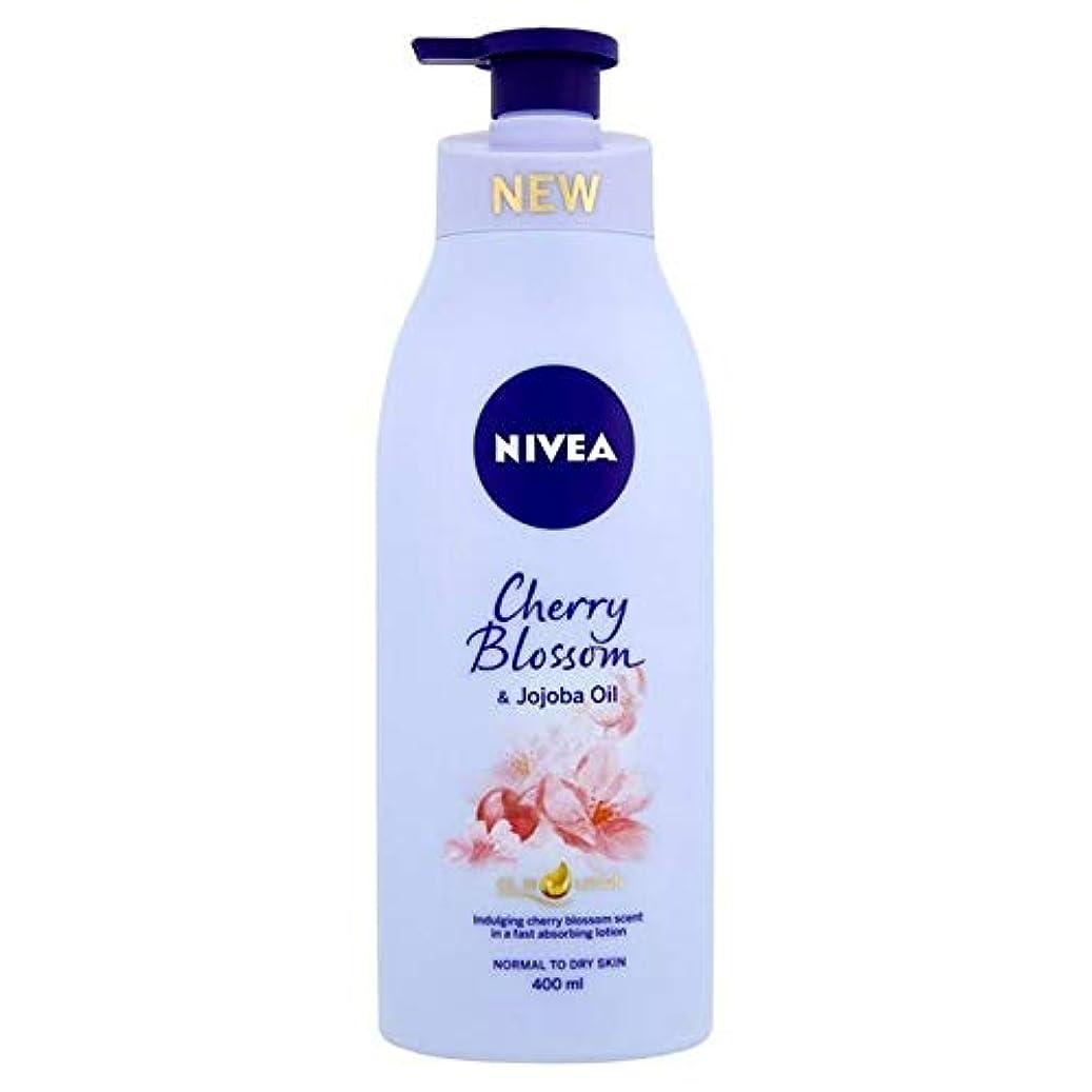 クラフト経済的ビット[Nivea ] ニベア桜&ホホバオイルボディローション400ミリリットル - Nivea Cherry Blossom & Jojoba Oil Body Lotion 400ml [並行輸入品]