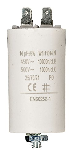 Eurosell Premium condensador operativos condensador (condensador de arranque trabajo condensador Conector Conector sin cable 14µF/450V + Earth