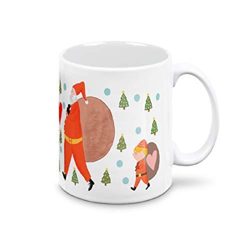 Mugnue Taza Mug – Papá Noel OH OH OH! Feliz Navidad – Regalos económicos – Tazas de desayuno – con caja blanca (Papá Noel OH OH OH OH Feliz Navidad)