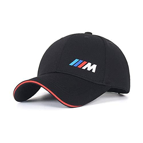 車のロゴは、男性と女性の帽子旅行キャップF1レーシングモーター帽子BMW-Mアクセサリー用刺繍調整可能な野球帽 (BMW-M)