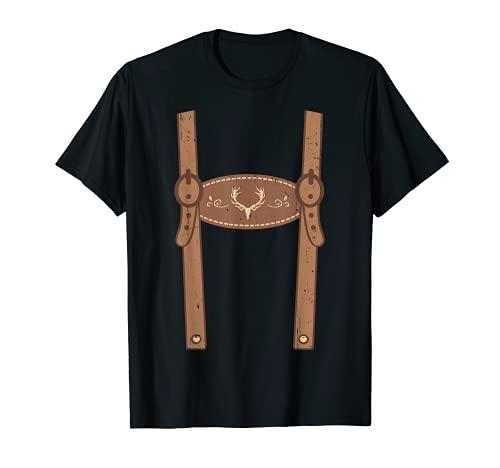 Ersatz Lederhose Tracht Bayern Mann Herren lustig Lederhosn T-Shirt