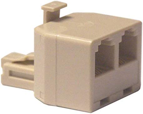 Telephone T Adapter Single to Dual Jack Ivory product image