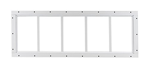 USA Made Shed Transom Window 10' x 30' White Flush Tempered Glass