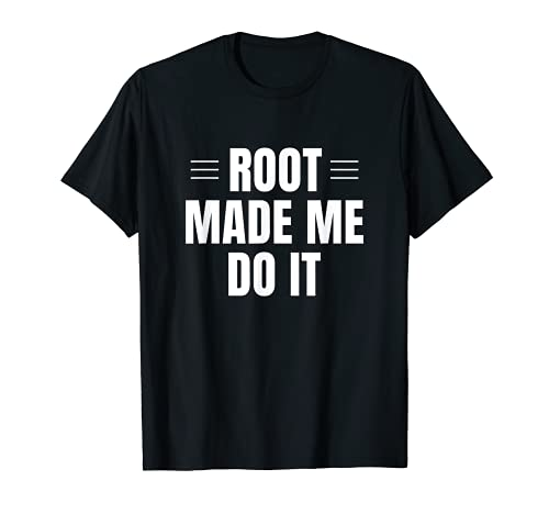 Soporte Técnico Computadora Nerd Funny Root Linux para Sysadmin Camiseta