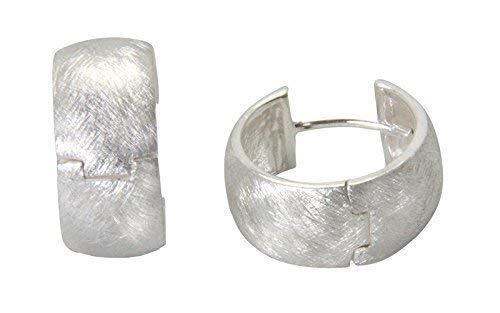 Klapp Creolen hochwertige Goldschmiedqualität (Sterlingsilber 925 anlaufgeschützt) Silbercreolen 16x7,5 mm, Damen Kreolen Ohrringe, Klapp Ohrringe