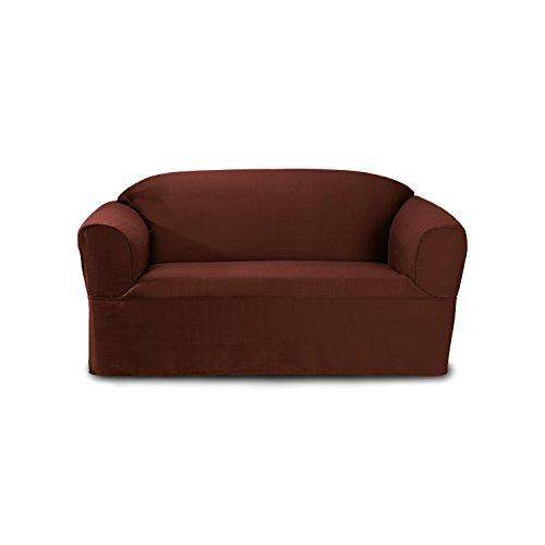 CoverWorks - Funda para sofá de Dos plazas, Color Rojo rústico