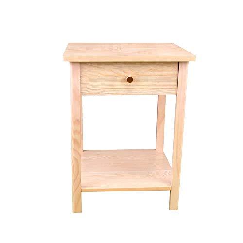 KAYBELE PNBRAES Tabla Nightstand Night Stand Stand Table Final Mesa de Noche de Madera con cajón y Estante de Almacenamiento Muebles de Cama para el hogar Multifuncional Mesa de Noche
