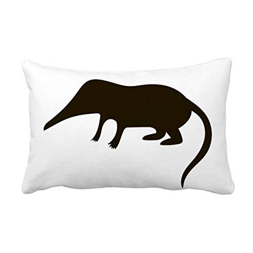 DIYthinker Representación Negro domada Animal Throw Almohada Lumbar Inserte la Cubierta del Amortiguador del hogar del Regalo de la decoración del sofá