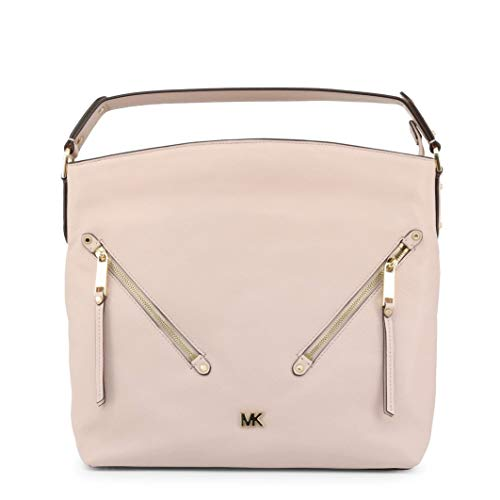 The MICHAEL Michael Kors Evie shoulder bag offers a simple and sophisticated look, crafted from supple pebbled leather and accented with diagonal zip pockets and gold-tone metal branding at the front. This beautiful bag has a secure zip fastening and...