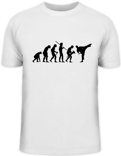Shirtstreet24, Evolution Judo, Kampfsport Karate Kung Fu Funshirt, Größe: L, weiß
