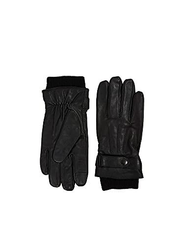 ESPRIT Mit Wolle: Handschuhe aus Leder