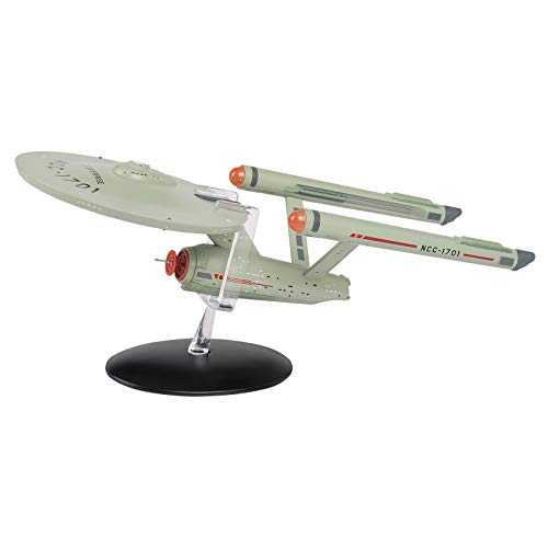 Eaglemoss Figura di Star Trek USS Enterprise NCC-1701 Hero Collector 13x7,5x7,5 cm, multicolore