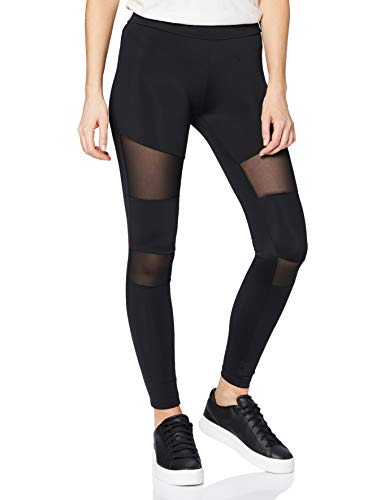Urban Classics Ladies Tech Mesh Leggings, Schwarz (black 7), L