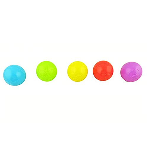 Fisher-Price Zoom 'n Crawl Monster ~DYM82 - Replacement Parts ~ Replacement 5 Colorful Balls ONLY ~ Balls are in Blue, Green, Red, Violet & Yellow