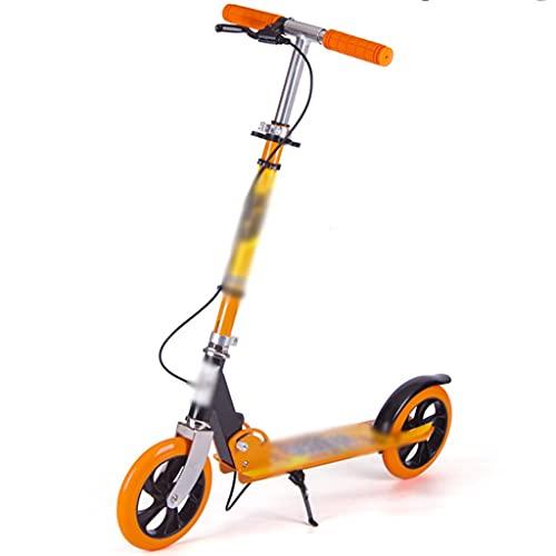 Patinete Stunt Scooter Robustos Patinete De Altura Regulable, Scooters De Truco De Ciudad para Adultos, Scooters Deportivos De Carreras para Adolescentes (Color : Orange, Size : 68 * 49 * 84cm)