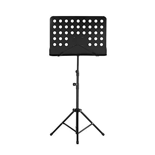 Portable Metal Music Stand Abnehmbare Musikinstrumente für Klavier Violine Gitarre Noten schwarz