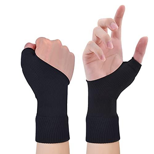 Therapiehandschuhe Gelgefüllte Daumen Hand Handgelenkstütze Arthritis Kompression für Daumen Arthritis, Karpaltunnel, Sehnenscheidenentzündung für Männer und Frauen Passt für beide Hände L