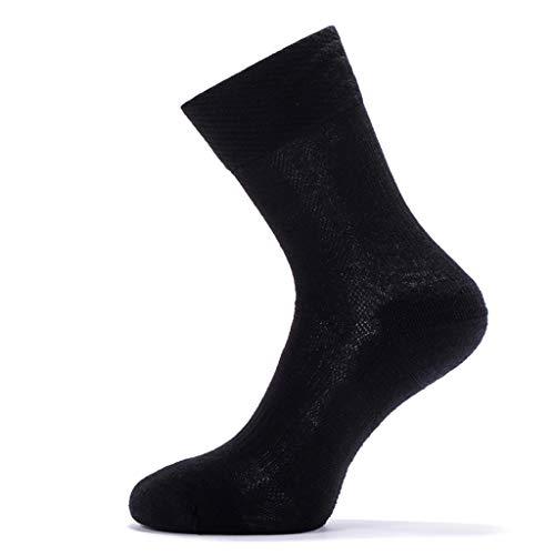 Chaussettes de Haute qualité en Laine mérinos pour Hommes Anti-Glisse évacuant l'humidité Coton Chaussettes Camping en Plein air randonnée Sac à Dos Chaussettes de Sport (Color : D, Taille : L)