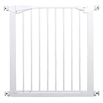 LNDDB Porte très Large et Haute pour bébé avec Porte pour Animal Domestique, Se fixant à la barrière de Protection de Porte de Rampe d'escalier de Rampe 77-126CM, 91cm de Hauteur (Taille: 112-119cm)