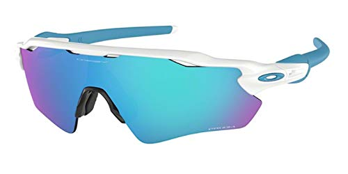 Oakley Radar EV Path 920857 38M Polished White/Prizm Sapphire Sunglasses For Men+BUNDLE with Oakley Accessory Leash Kit…
