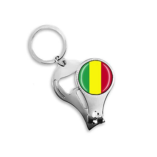Mali-Flagge Bierflaschenöffner, Nagelknipser, Metall, Glas, Kristall, Schlüsselanhänger, Reise-Souvenir, Geschenk, Schlüsselanhänger Zubehör