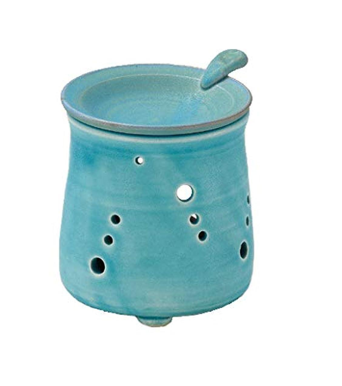 磁気チロ下着ヤマキイカイ 置物 ブルー 径9.5cm 山田トルコブルー 茶香炉 L1616