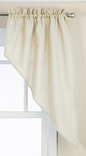 Lorraine Home Fashions Ribcord Swag Pair, 54-Inch x 38-Inch, Buttercream