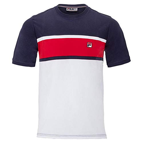 Fila Conte Tee White/Peacoat/Chinese Red MD