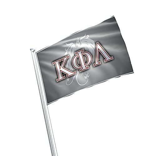 greeklife.store Kappa Phi Lambda lizenzierte Fahne 3x152 cm für Zuhause, Gewerbe, Keller, Garage. Haltbare Metallösen zum Aufhängen, 100% Polyester, Bedruckt.
