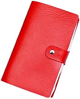 TT WARE Men Women Anti-magnetic Credit Card Holder PU Leather ID Bag Organizer-Red
