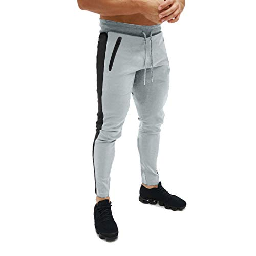Slim Fit vrijetijdsbroek heren   joggingbroek   trainingsbroek   sport fitness   gym   training   slim fit   sweatpants strepen   joggingbroek   gestreepte broek
