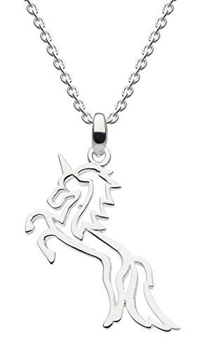 Dew Halskette aus Sterlingsilber mit Umrissen eines steigenden Einhorns, 45,7 cm, 9472HP