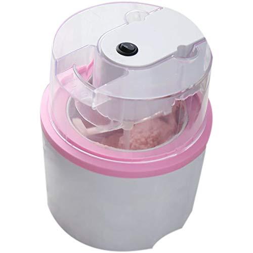 JY Startseite Eismaschine, DIY hausgemachte Eissmoothie-Maschine, verwendet, um gefrorenen Joghurt, EIS, Sorbet - auch Gefrorene Getränke, Pink - 700ml zu Machen