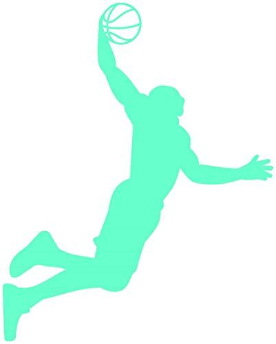 Samunshi® Aufkleber Basketball Slam Dunk Autoaufkleber in 8 Größen und 25 Farben (20x25cm mint)